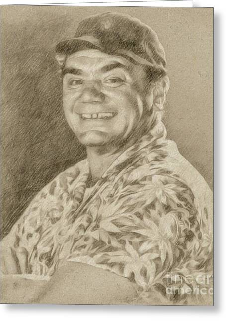 Ernest Borgnine Hollywood Actor Greeting Card by Frank Falcon