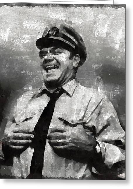 Ernest Borgnine Hollywood Actor Greeting Card
