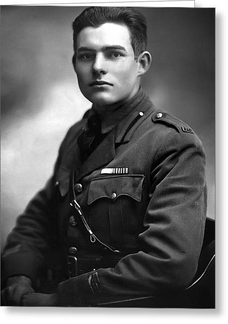 Ernest Hemingway 1918 Greeting Card by Daniel Hagerman