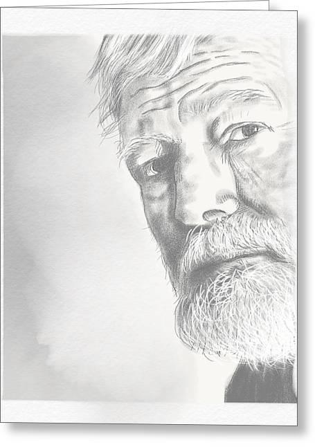 Ernest Hemingway Greeting Card