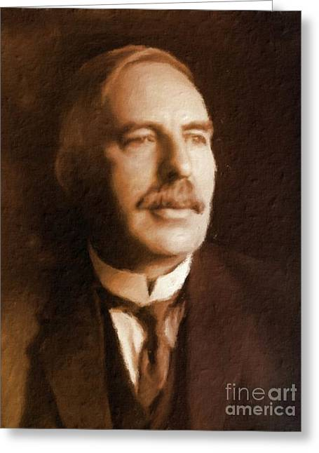Ernest Rutherford, Scientist By Mary Bassett Greeting Card by Mary Bassett