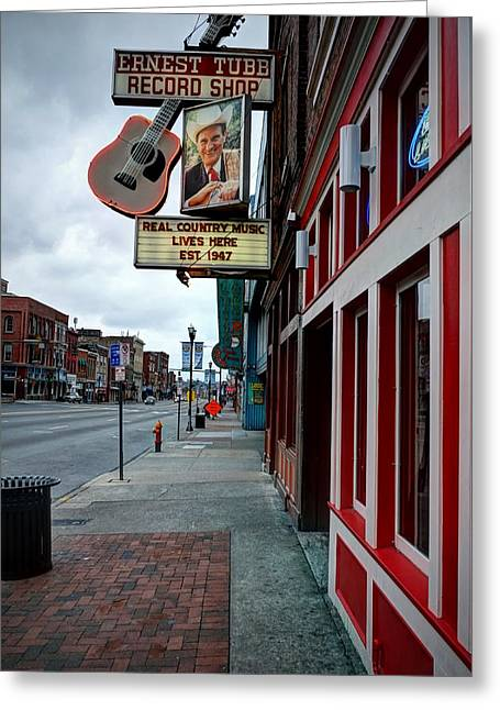 Ernest Tubb Record Shop Greeting Card by Bob Bell