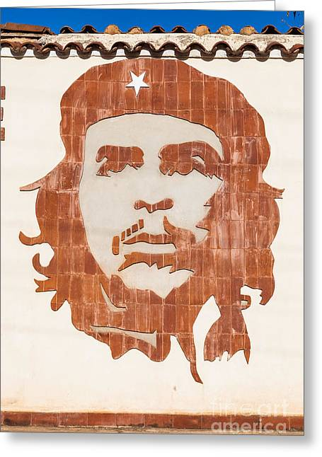 Ernesto Che Guevara Portrait, Cuba Greeting Card by Voisin/phanie