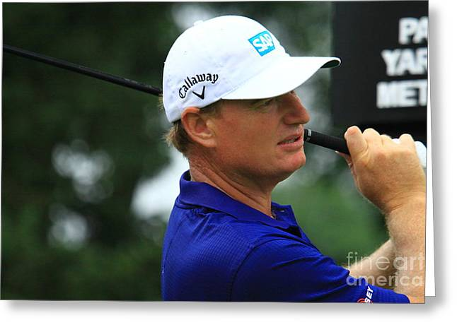 Ernie Els Of South Africa Greeting Card by Douglas Sacha