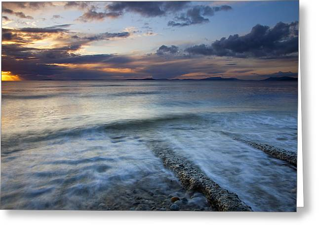Eroded By The Tides Greeting Card by Mike  Dawson