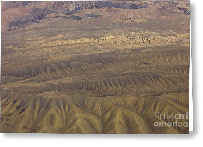 Eroded Hills Greeting Card by Tim Grams