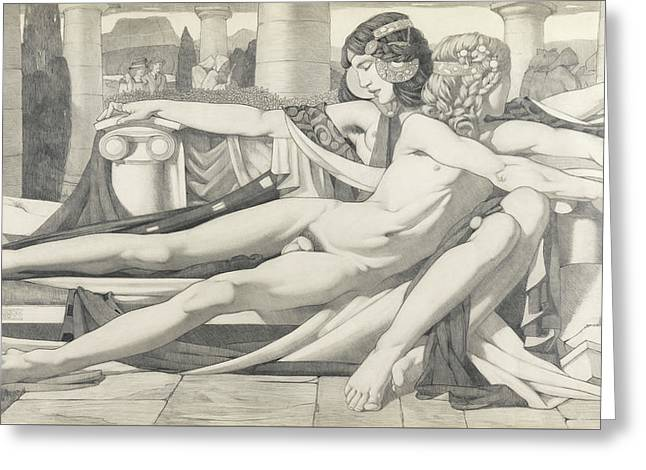 Eros And Aphrodite, 1910 Greeting Card by Eric Harald Macbeth Robertson