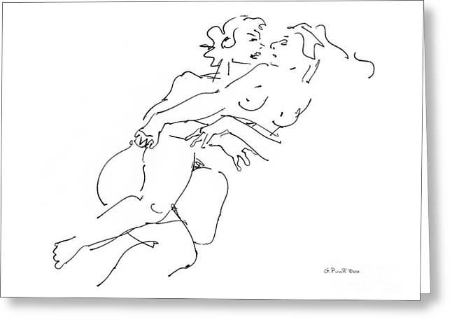 Erotic Art Drawings 13 Greeting Card by Gordon Punt