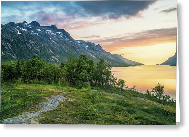 Ersfjord Sunset Greeting Card