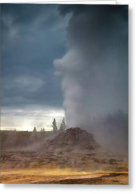 Eruption Greeting Card by Edgars Erglis