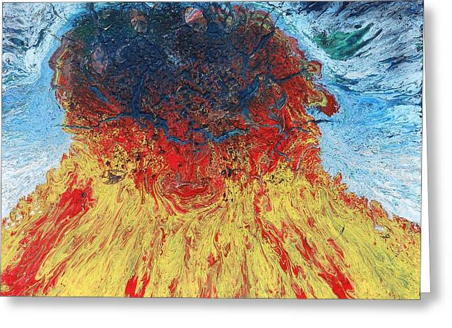 Eruption Greeting Card