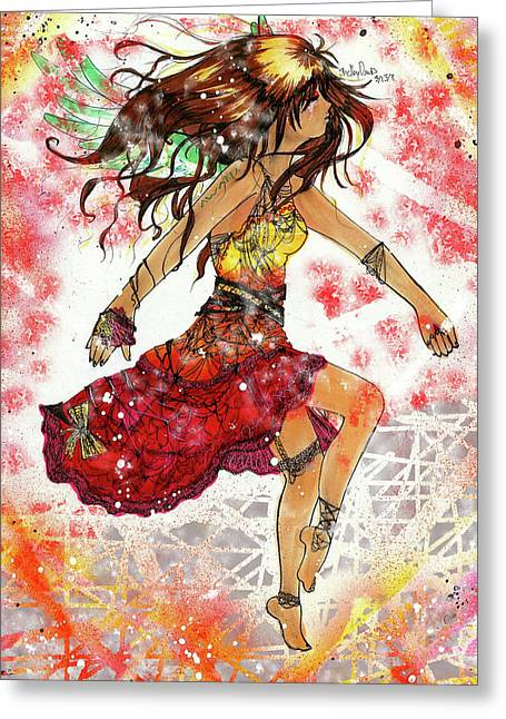 Eruption Greeting Card by Shelby Davis