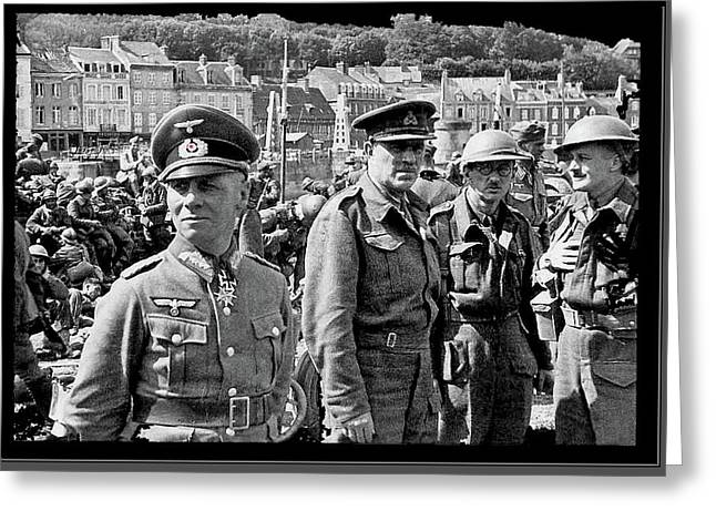 Erwin Rommel And Captured British Soldiers Tobruck Libya 1942 Color Added 2016  Greeting Card