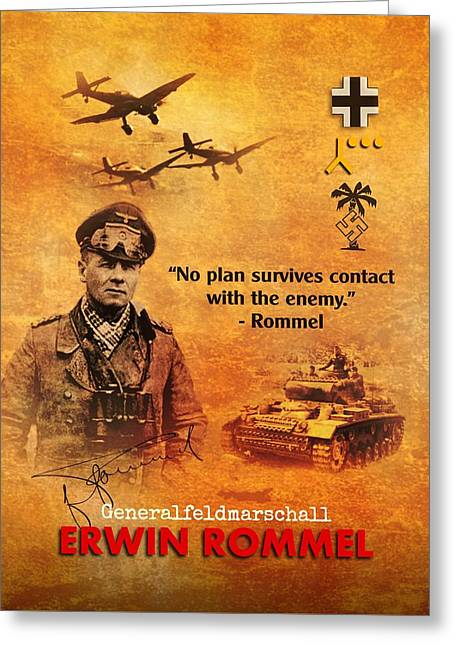 Erwin Rommel Tribute Greeting Card