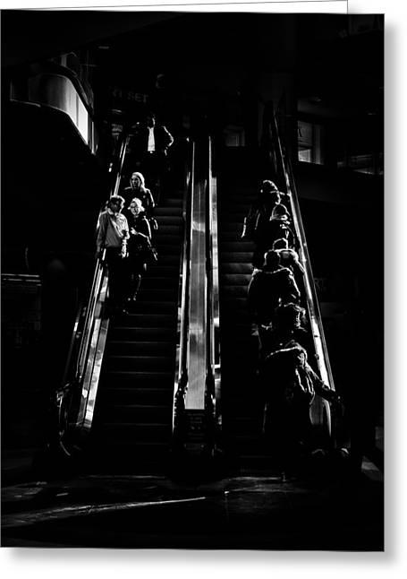 Escalator No 1 Greeting Card by Brian Carson