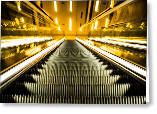 Escalator Greeting Card
