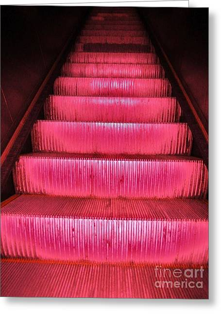 Escalier Greeting Card by Reb Frost