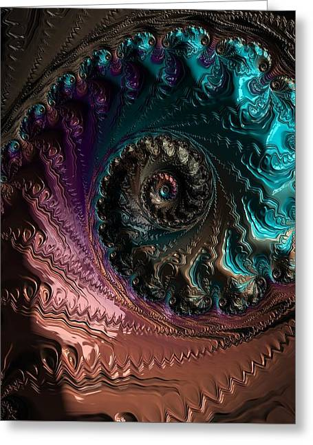 Escape Abstract Greeting Card by Marianna Mills