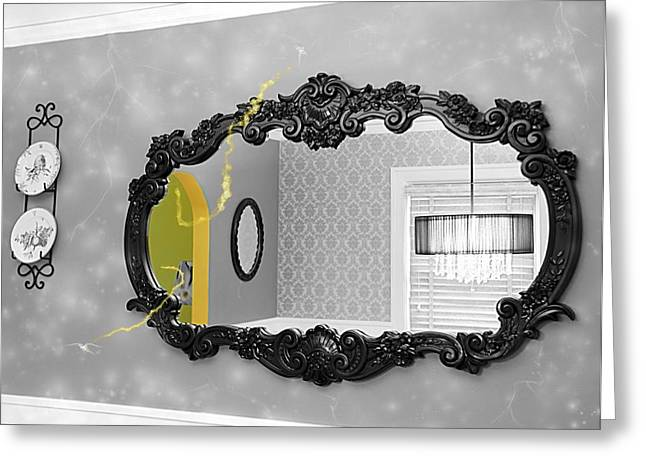 Escape From The Yellow Room Greeting Card by Debra Baldwin