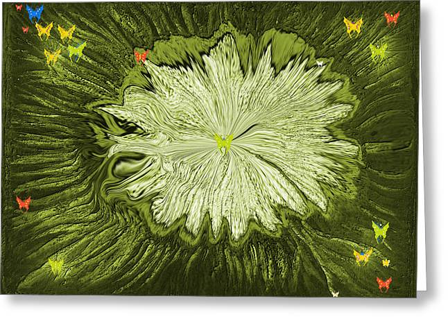 Digital Art Greeting Cards - Escape Of The Butterflies Greeting Card by Sherri  Of Palm Springs