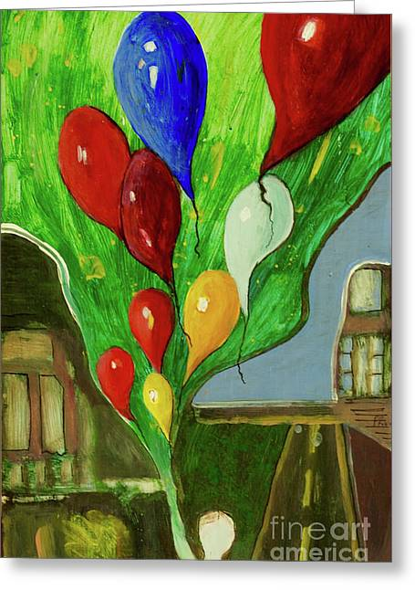 Greeting Card featuring the painting Escape by Paul McKey