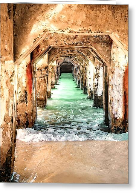 Greeting Card featuring the digital art Escape To Atlantis by Pennie  McCracken