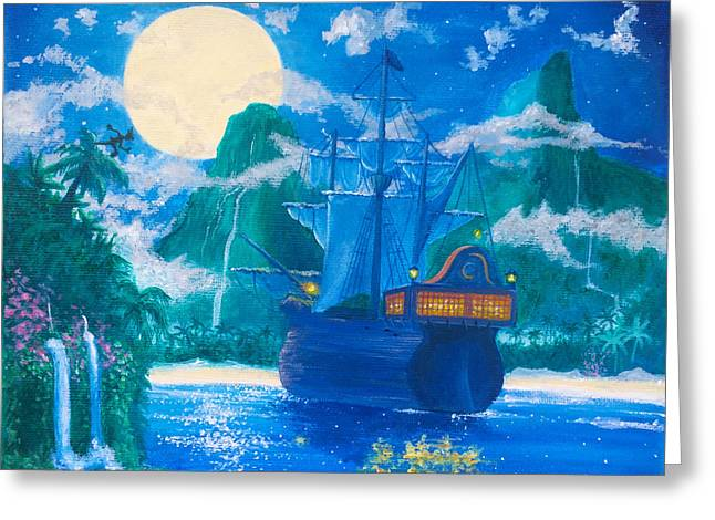 Escape To Neverland Greeting Card by Kellie Haggerty
