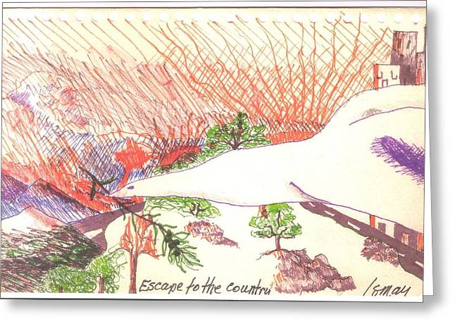 Escape To The Country Greeting Card by Rod Ismay