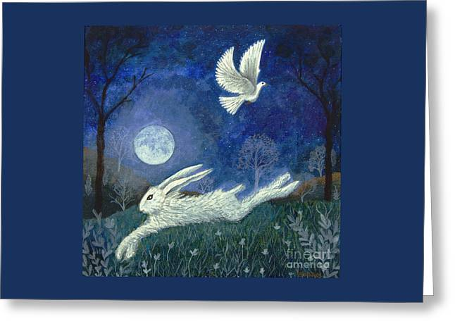 Greeting Card featuring the painting Escape With A Blessing by Lise Winne