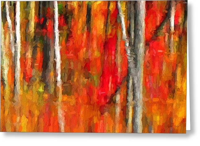 Escapism - Fall Reflections Greeting Card by Andrea Kollo
