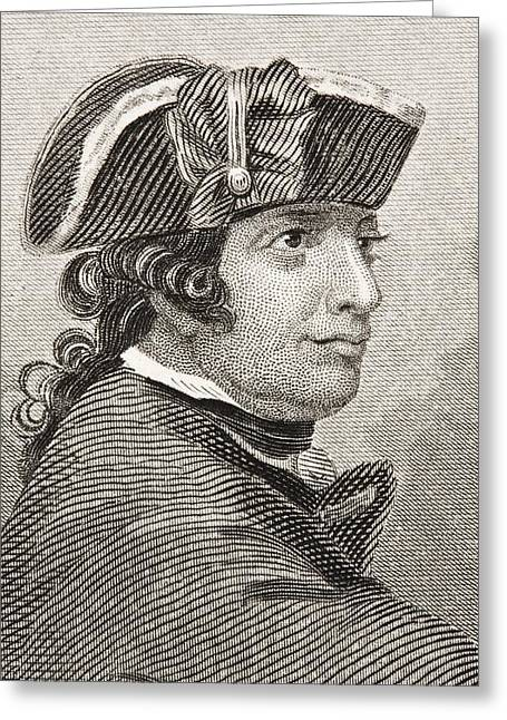Esek Hopkins 1718 -1802. Commander In Greeting Card by Vintage Design Pics