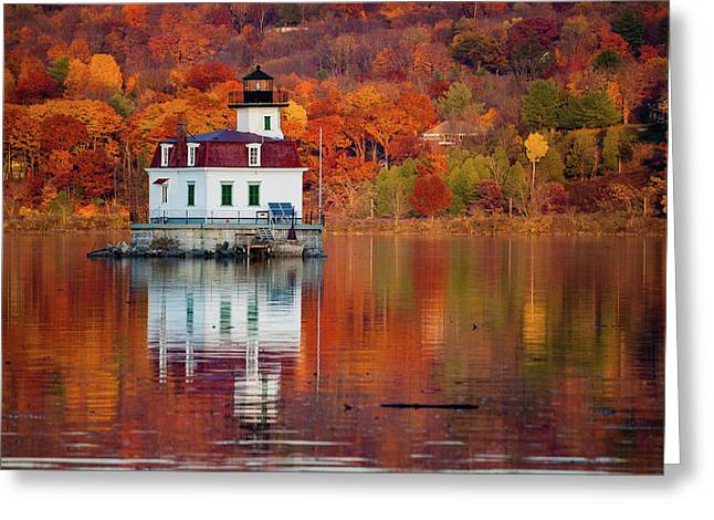 Esopus Lighthouse In Late Fall #2 Greeting Card by Jeff Severson