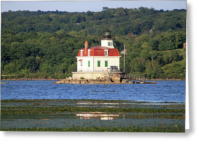 Greeting Card featuring the photograph Esopus Lighthouse In Summer #4 by Jeff Severson