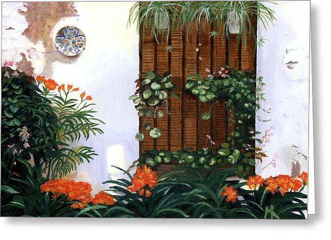 Greeting Card featuring the painting Espana by Lynne Reichhart
