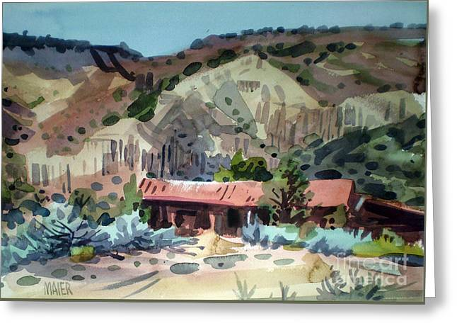 Espanola On The Rio Grande Greeting Card by Donald Maier