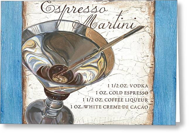 Espresso Martini Greeting Card by Debbie DeWitt