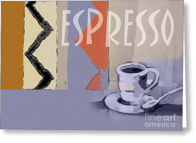 Espresso Poster Greeting Card by Lutz Baar