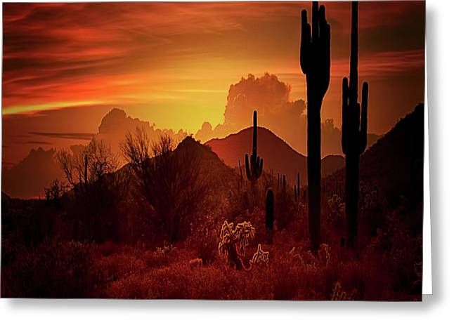 Greeting Card featuring the photograph Essence Of The Southwest - Square  by Saija Lehtonen