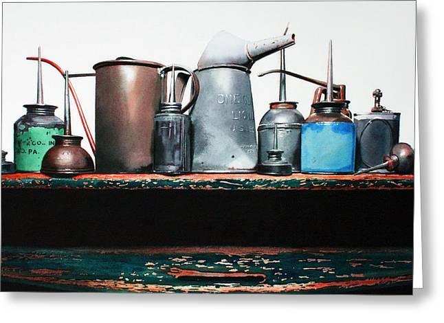 Essential Oils Greeting Card by Denny Bond