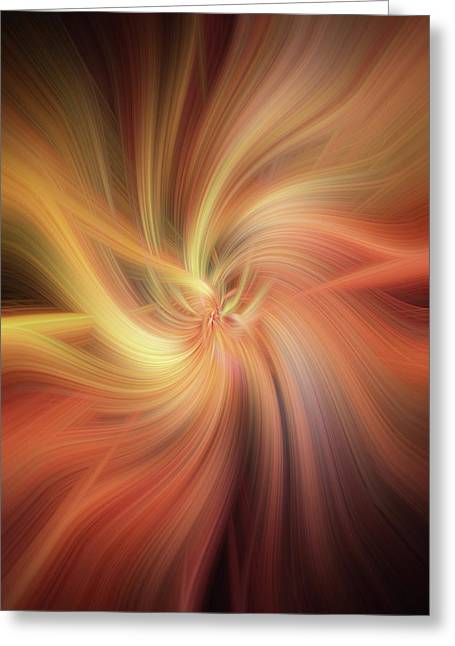 Essential Vibrations Of Light Greeting Card by Jenny Rainbow