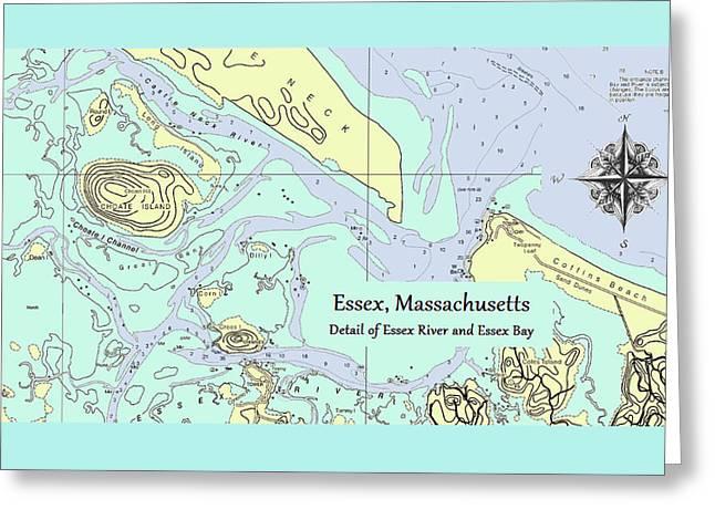 Essex River Detail Greeting Card