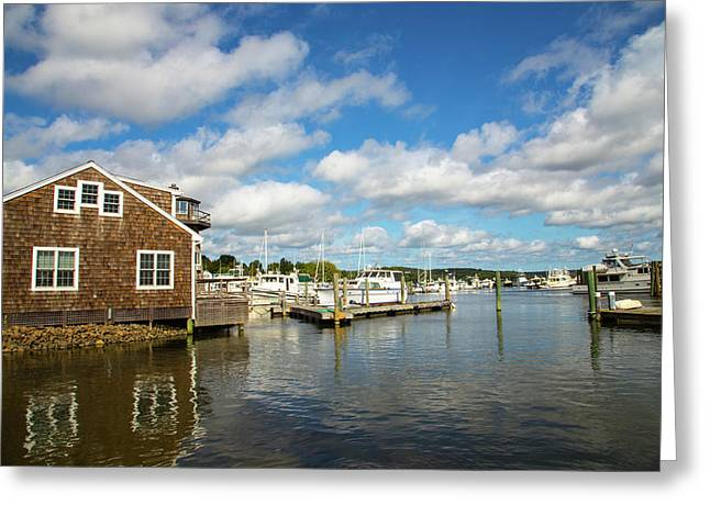 Essex Waterfront Greeting Card by Karol Livote