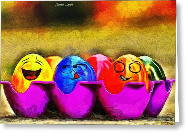 Ester Eggs - Pa Greeting Card by Leonardo Digenio