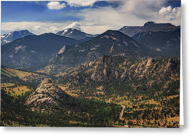 Estes Park Aerial Greeting Card