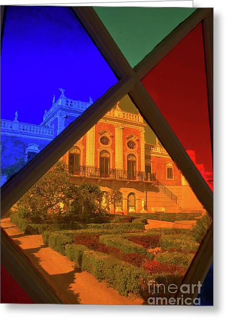 Estoi Palace Through The Window Greeting Card by Angelo DeVal