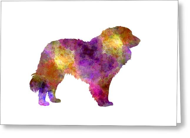 Estrela Mountain Dog In Watercolor Greeting Card by Pablo Romero