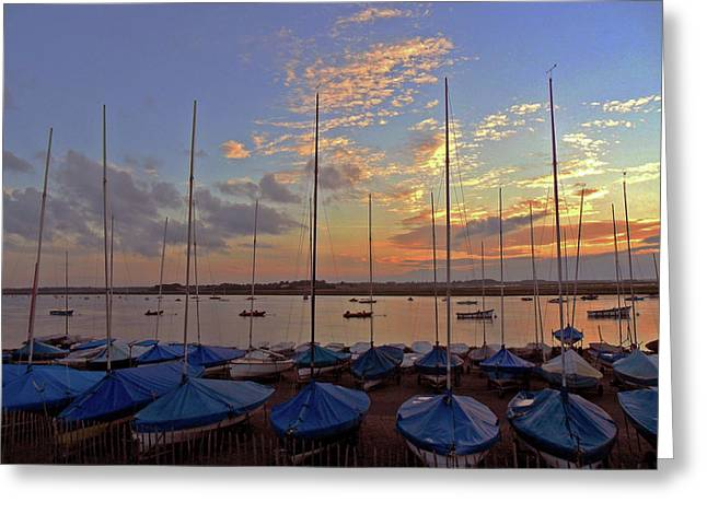 Greeting Card featuring the photograph Estuary Evening by Anne Kotan