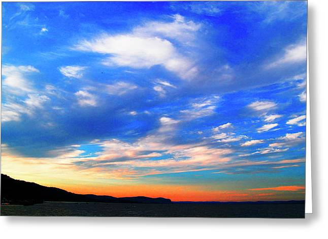 Estuary Skyscape Greeting Card