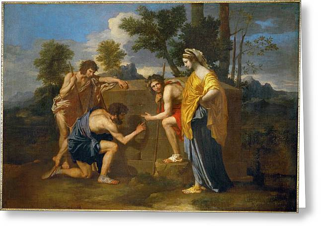 Et In Arcadia Ego By Nicolas Poussin, 1637-1638 Greeting Card