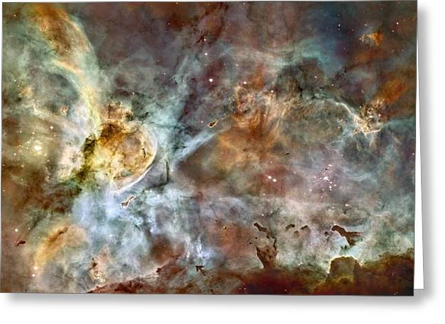 Eta Carinae Nebula, Hst Image Greeting Card